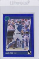 2021 DONRUSS BLUE RATED ROOKIE RC SAM HUFF TEXAS RANGERS PARALLELS E7490
