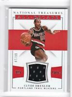 2018-19 Clyde Drexler #/99 Jersey Panini National Treasures Blazers