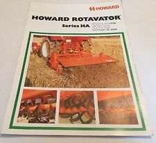 HOWARD Rotavator Series HA Original 1977 Vintage Sales Brochure