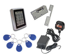 Proximity Code Access Control Entry Kit, 5 Fobs, Power Supply and Lock Release