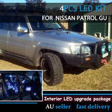 White Led Interior Festoon Dome Reading Light Bulbs Kit For Nissan Patrol GU GQ