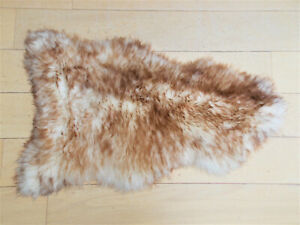Spiced Brown Sheepskin Rug Large 110-120 Real Fur Soft Thick Wool Hairy Area Rug