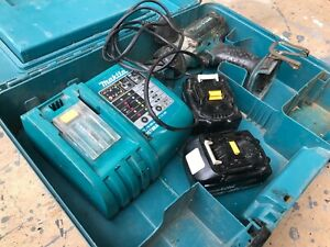 2 x Makita BL1830 18V 3ah Lithium Batteries, with charger