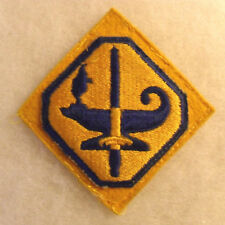 WWII A.S.T.P RESERVE EMBROIDERED & SEWN ON THICK GOLD FELT BASE OFF COAT