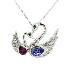 Fashion Jewelry - 18k White Gold Plated Swan Necklace (FN080)