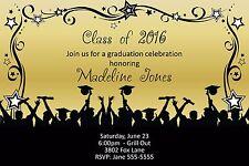 Graduation Grads Celebrating Invitation Announcement 10 Invitations Any Color