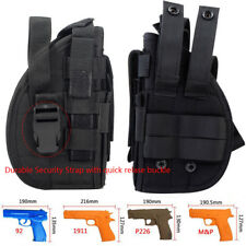 Tactical Right Hand Molle Gun Holster with Mag Pouch Pistol Holster for 1911 BK
