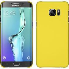 Custodia Rigida Samsung Galaxy S6 Edge Plus - gommata giallo Case