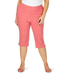 Plus Size Beme Dusty Pink Elastic Waist Crop Capri Pants Size 24