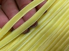 "VINTAGE 1/4"" VELVET RIBBON 3yds LEMON MERENGUE 5mm DOLL HATS Swiss"