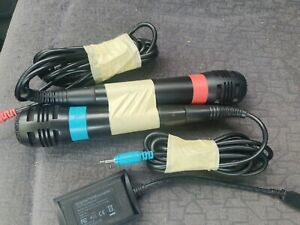 Original Sony Singstar Mikrofone (Kabel) für PS2/ PS3/ PS4 mit USB-Converter