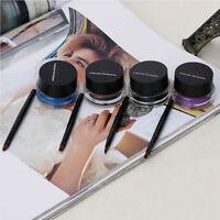 Waterproof Eye Liner Liquid Eyeliner Shadow Gel Makeup Cosmetic + Brush Black