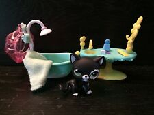 Littlest Pet Shop Black Cat flower eye #2249 Blythe pet