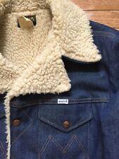 Vintage Maverick Blue Denim Jacket Ranch Coat Sherpa Lined Mens Sz XL Excellent