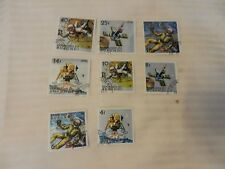 Lot of 8 Burundi 1968 Space Exploration Stamps Astronauts, Cosmonauts, Satellite