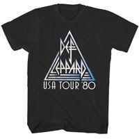 Def Leppard USA Tour 1980 Mens T Shirt Metal Rock Band Album Concert Music Merch
