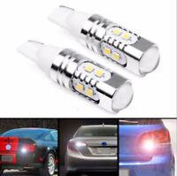 2pcs 50W 6500k White 921 T10 Back up Reverse LED Light Bulbs Projector Lens