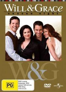 Will & Grace : Season 8 (DVD, 2007, 4-Disc Set) VGC - FREE POST