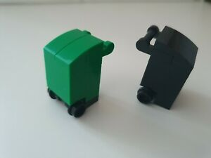 Lego City Green And Black Recycling Bins X 2 Minifigure Accessory