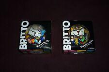 "HTF Romero Britto 1st Edition 2.5"" Cat Figurine Lot of 2 Royal Cat New In Box"