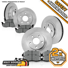 Front And Rear Premium Brake Rotors Metallic Pads 2003 2004 2005 Dodge Ram 1500