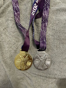 Replica 2012 London Olympic Game World Champions Sport Gold Medal & Silver Medal
