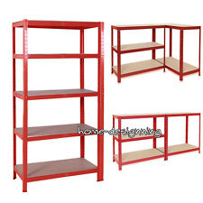 Work Bench Warehouse Heavy Duty Shelving 5Tier Garage Steel Racking Shelves Unit