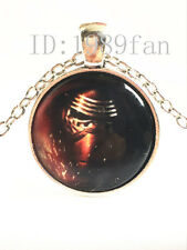 Star Wars Warrior Cabochon Tibetan silver Glass Chain Pendant Necklace~J18
