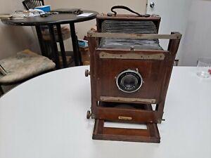 Vintage Camera With Wollensak Rapax 135mm 4.7 Raptar Lens Works