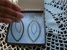 """Silpada Sterling Silver Brass """"Get Growing"""" Earrings W3073 $74"""