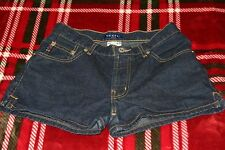 Womens/Jrs GUESS Dark Wash Mid Rise Mini/Jean Short Shorts Size 24 Perfect!!!