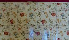 Papier peint ancien - Rinceau de Fleurs branchéesen carreauxde Faïence - 1930