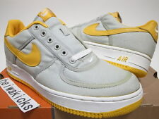 2001 NIKE AIR FORCE 1 CANVAS NEUTRAL GREY/UNIVERSITY GOLD 624020-071 size 9.5