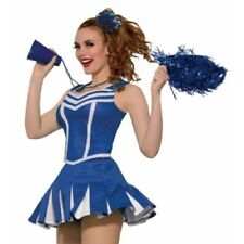 Cheerleading Skirt - Pleated - White Trim - Adult - Red or Blue