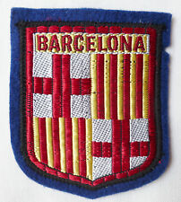 Blason BARCELONA 70X58 mm écusson Patch insigne tissu ancien Espagne Espana
