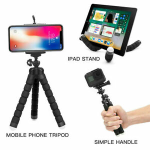 Universal Octopus Tripod Phone Holder Bluetooth Remote For iPhone 8 X 11 12 Pro