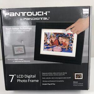 "Pantouch Pandigital 7"" LCD Digital Photo Video Media Framed Storage Home Decor"