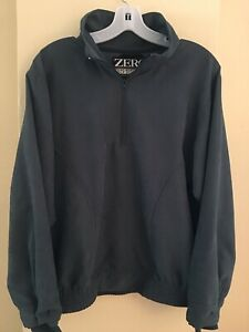 Zero Restriction 1/2 Zip Pullover M Medium Womens Golf Windbreaker Olive Green