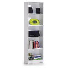 Estantería alta de melamina 5 espacios dormitorio juvenil, despacho color blanco