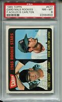 1965 '65 Topps Baseball #477 Steve Carlton Rookie Card RC Graded PSA NM Mint 8