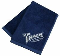 New Track Logo Blue Bowling Ball Towel   Woven