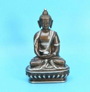 "5"" Tibet HandMade Amitabha Buddha Copper Statue for Altar Monastery Shrine Nepal"