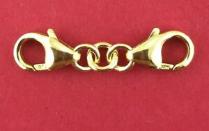 Yellow Gold Filled 1/20 Safety Chain Extenders 2 x Trigger Clasps