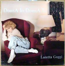 GOGGI LORETTA MARIO LAVEZZI DONNA IO DONNA TU LP 1988 ITALY + TESTI MINT