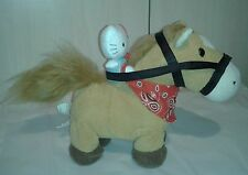 "Animated Galloping Horse & Hello Kitty Plush Sound Motion 10"""