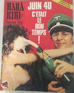 HARA KIRI N° 153 JUIN 1974 TRES BON ETAT PROFESSEUR CHORON