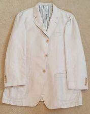Tessuto Ermenegildo Zegna blazer jacket beige ivory M/50 cotton and lin