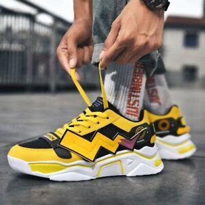 Light Clunky Men Pikachu Anime Shoes Graffiti Classic HIP HOP  Cosplay Sneakers