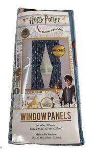 "Harry Potter Chibi Curtains Set Of 2 Window Panels 42""x 84"" Jay Franco new"