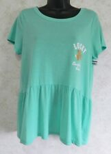 Red Camel Ladies Pull Over Light Green Knit Top Lucky southern Girl Large NWT
